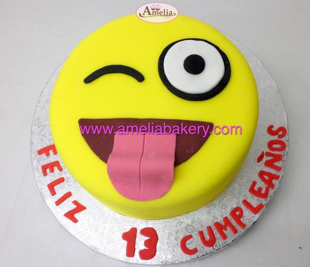 Emoji Happy Birthday Cake